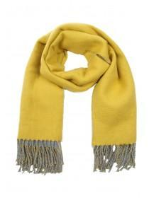 Womens Mustard Reversible Oversized Scarf
