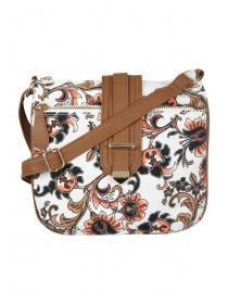 Womens White Paisley Canvas Bag