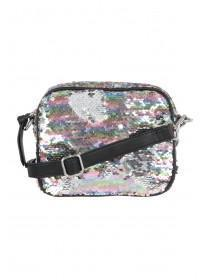 Rainbow Flip Sequin Across Body Bag
