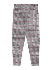 Older Girls Monochrome Check Leggings