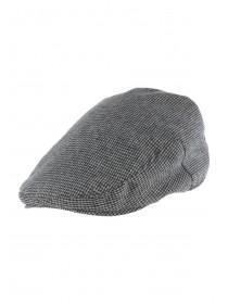 Mens Grey Check Flat Cap
