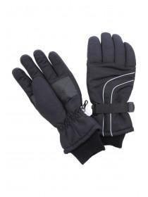 Mens Black Thinsulate Ski Gloves