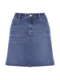 Womens Blue Denim 365 Side Stud Skirt