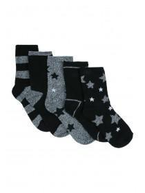 Boys 5pk Star Socks