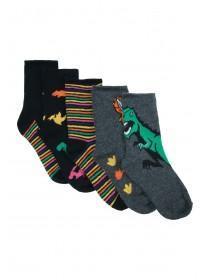 Boys 5pk Dinosaur Socks