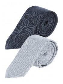 Mens 2pk Grey Ties