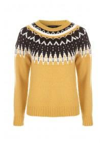 Womens Yellow Fairisle Jumper