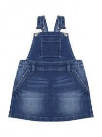 Younger Girls Blue Denim Pinafore Dress