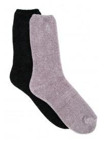 Womens 2pk Chenille Soft Socks