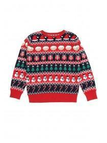 Older Kids Red Fairisle Christmas Jumper