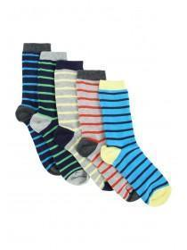 Boys 5pk Stripe Socks
