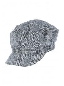 Womens Grey Check Baker Boy Hat