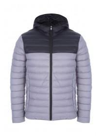 Mens Black and Grey Padded Jacket