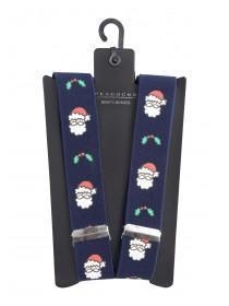 Mens Navy Christmas Braces