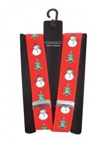 Mens Red Christmas Braces