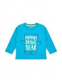 Baby Boys Blue Slogan T-Shirt