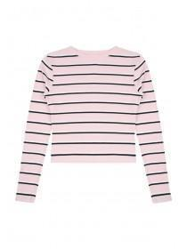 Older Girls Pink Stripe Rib Top