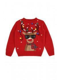 Older Boys Red Reindeer Christmas Jumper