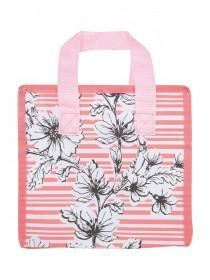 Womens Coral Floral Lunch Bag