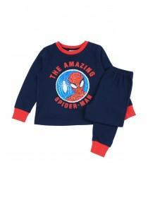 Younger Boys Blue Spiderman Flip Sequin Pyjamas