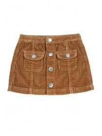 Younger Girls Tan Cord Skirt