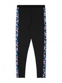 Older Girls Black Side Panel Leggings