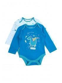 Baby Boys 2pk Blue Dragon Bodysuits