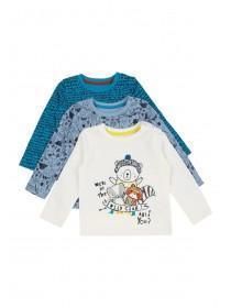 Baby Boys 3pk Animal T-Shirts