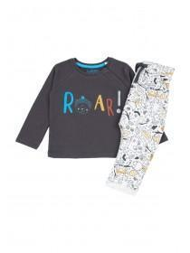 Baby Boys Charcoal Roar Sweater and Jogger Set