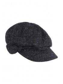 Womens Charcoal Grey Baker Boy Hat