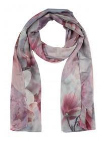 Womens Lilac Floral Print Scarf