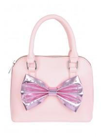 Older Girls Small Pink Bow Bag