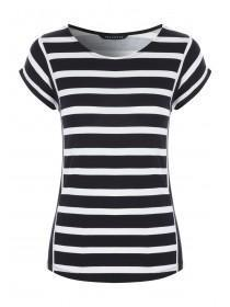 Womens Monochrome Mixed Stripe T-Shirt