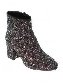 Older Girls Glitter Block Heel Ankle Boots