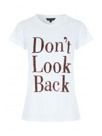 Womens White Slogan T-Shirt