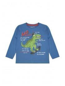Younger Boys Blue Dinosaur T-Shirt
