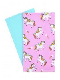 Multicolour 2pk Unicorn Tea Towel Set