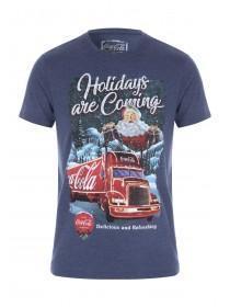 Mens Navy Coca-Cola Holidays T-Shirt