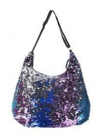 Womens Multicolour Sequin Shoulder Bag