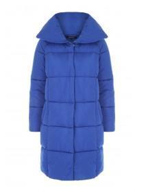 Womens Cobalt Padded Blue Duvet Coat