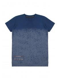 Older Boys Blue Dip Dye Splat T-Shirt