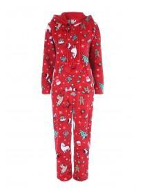 Womens Red Christmas Onesie