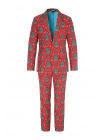 Mens Red Novelty Christmas Suit