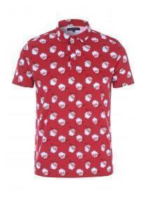 Mens Red Christmas Polo Shirt