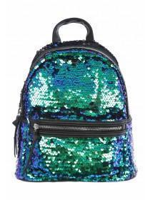 Womens Green Sequin Rucksack