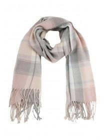 Womens Pink Pastel Check Scarf