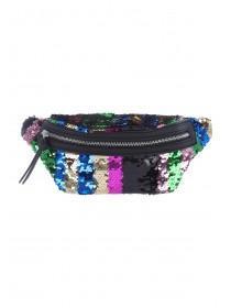Womens Multicolour Sequin Bum Bag