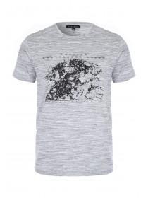 Mens Grey Printed T-Shirt