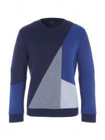 Mens Blue Diagonal Sweatshirt
