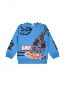 Younger Boys Blue Spiderman Sweater